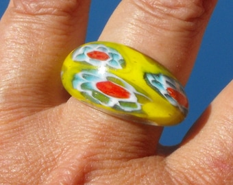 Ring entirely glass BAG.1013