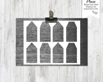 Instant Download, Hang Tag, Gift Tag Templates, PNG File