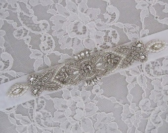 SALE,Rhinestone Bridal Sash,Wedding sash,Bridal Accessories,Bridal Belt,Bridal Applique # 105