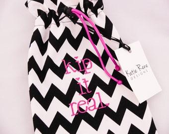 Gymnastics Grip Bag, Personalized Grip Bag, Kip it Real, Gymnast Gift, Grip Bag