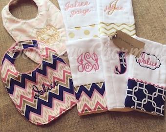 Bib and Burp Cloth Sets