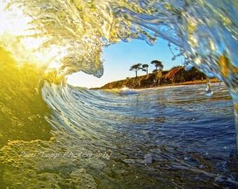 Ocean Wave Photo Print Surfing Home Decor