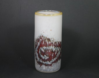 glass vase with spiral galaxy