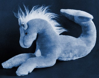 Sewing Pattern Make a Merhorse Mythical Hippocampus Stuffed Animal EASY design from Fantasy Creations