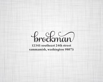 Script Personalized Address Stamp, Wedding Return Address Stamp, Custom Address Stamp, Self Inking Stamp, Rubber Stamper