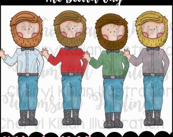 The Beard Guy Clipart Collection- Immediate Download