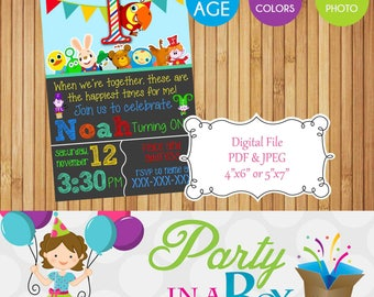 Baby First TV Invitation DIY Printable Digital File