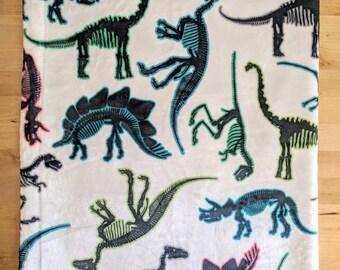 Rawr! Dinosaur Bones Baby Blanket