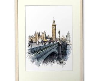London Fine Art Print. London Photo Card. England Photo Print. London Greeting Cards, Digital Art Print