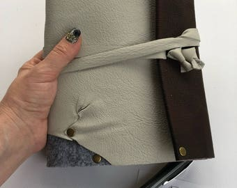 Leather bound binder journal/diary