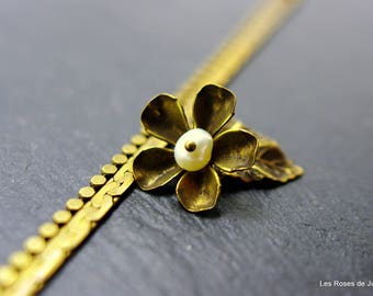 Flower art deco bracelet