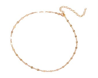 """14k Gold Filled, Rose Gold, Sterling Silver Light Catching """"Persuasive Choker"""" by, Sam Ozkural x Au Courant"""