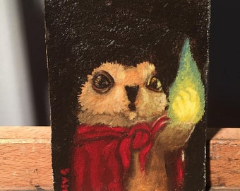 Oil Sketch - Flaming Fist!