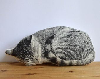 Silkscreen Sleeping Cat Pillow
