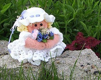 Crochet pattern, Beautiful Bride toilet paper cover