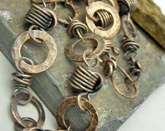 Rugged Links in Copper,  Necklace, ThePurpleLilyDesigns