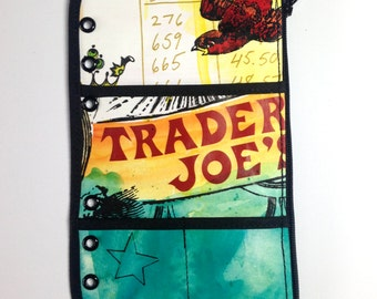 Zipper Pouch Insert Filofax Personal Trader Joe's Theme Ring Planner