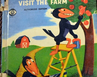 Vintage Children's Book Heckle and Jeckle Visit the Farm Wonder Books