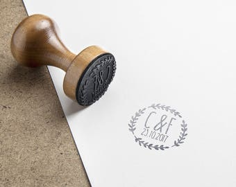 Pad, personalized wooden wedding, baptism, birthday - 40 mm