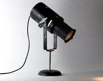 Classic Stage LED Spotlight Table Lamp – Home Decor Display, Lighting & Collector Piece