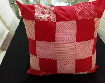 Cushion Covers Patchwork Red