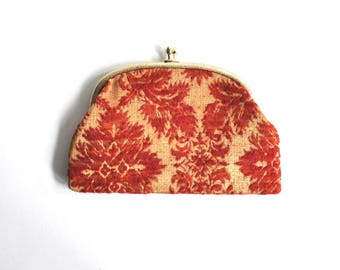 Vintage Woven Red and Gold Clutch