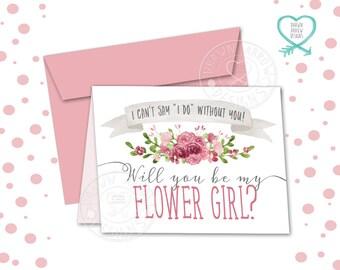 Bouquet Flower Girl Card