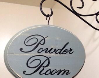 Adorable Bathroom Sign (7x9) (Sage) Powder Room