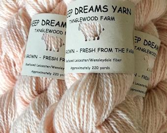 SheepDreamsYarn-naturally dyed palest madder