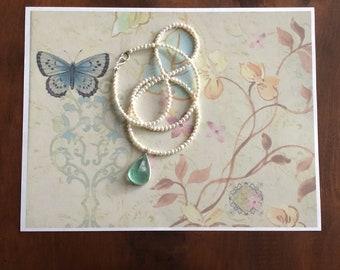 Aquamarine with Pearls
