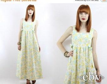 Handmade Hippie Dress Festival Dress 1970s Dress 70s Dress Handmade Dress Vintage 70s Floral Dress Boho Dress Maxi Dress Hippy Dress