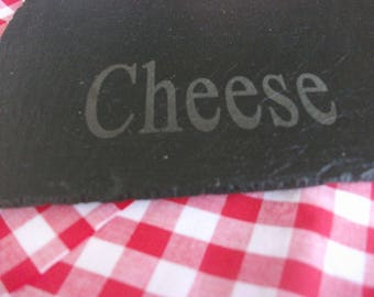 Personalised Slate Cheese Board - Any Name Or Saying Engraved