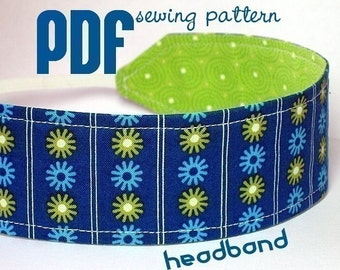 INSTANT DOWNLOAD - PDF Sewing Pattern - Reversible Fabric Headband