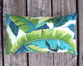 Tropical Palm Outdoor Pillow Cover - Available In 6 Sizes - Lumbar and Square