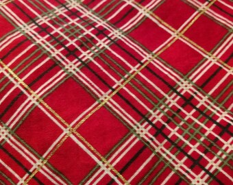 Red and Gold Plaid