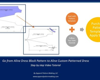 Learn to Design Sewing Patterns, E-Course, Pattern drafting, Sewing, Tutorial Lesson, Learn how to make your own sewing patterns