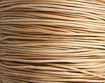2 Yards - .5 mm Natural Leather Cord