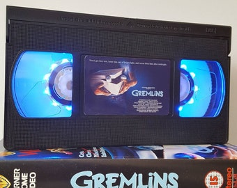 Retro VHS Lamp Gremlins 80s Night Light Table Lamp, Horror Movie. Order any movie! Great personal gift. Man Cave. Mothers Day Mothers Day