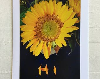 Sunflower photo card and envelope