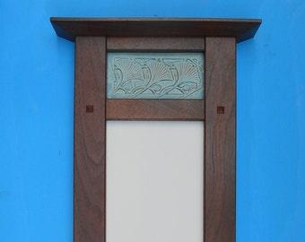 Decorative  Mirror, Ginkgo Leaf, Wedding/Heirloom/Anniversary, Arts and Crafts, Mission Style