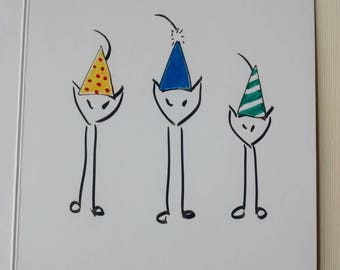 I Tre Gattini Greeting Cards