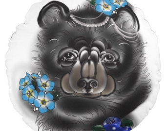 Pnw black bear pillow