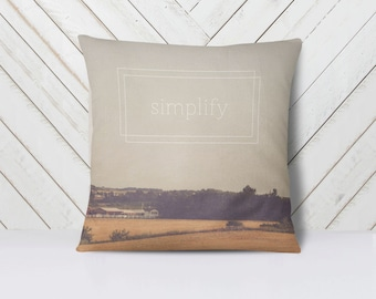 Simplify Throw Pillow Cover | Nature Landscape | Art | Calm Peaceful Meditative Decor | Home Decor