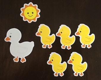 5 Little Ducks Magnets - Preschool Learning - Story Magnets