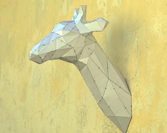 Make Your Own Giraffe Sculpture. | Papercraft Giraffe | Zoo Animal | Papercraft animal | Giraffe | Paper Animal | Paper Giraffe | Origami
