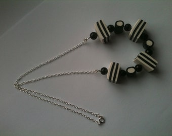 Black And White Mints Necklace
