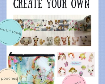Create your Own Washi tape, stickers, and pouches - online class