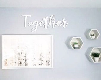 "33"" Together Wood Cutout"