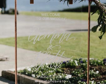 Acrylic Perspex Welcome Sign | Acrylic sign | Perspex sign | Wedding Sign | Engagement sign | Event sign | Chalkboard sign