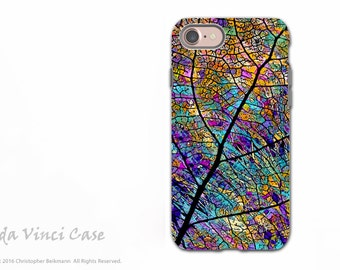 Colorful Aspen Leaf - Artistic iPhone 7 / 8 Tough Case - Dual Layer Protection - Stained Aspen